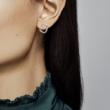 Pandora fényes szív fülbevaló - 297231NRPMX
