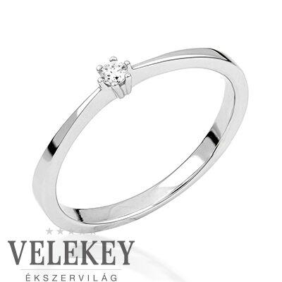 Fehér arany eljegyzési gyűrű - M102W