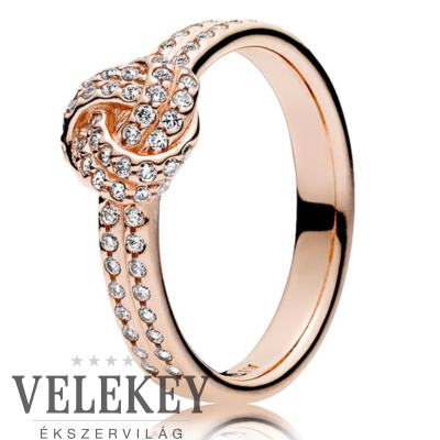 Pandora szikrázó szeretetcsomó gyűrű - 180997CZ
