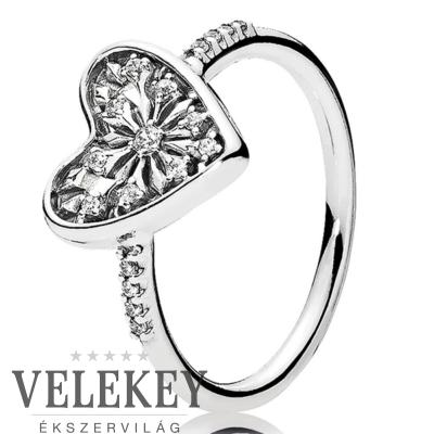 Pandora tél szíve gyűrű - 196371CZ