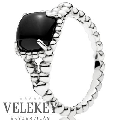 Pandora fekete bohém szimbólum gyűrű - 197188NCK