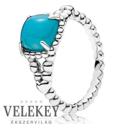Pandora türkiz bohém szimbólum gyűrű - 197188NSC