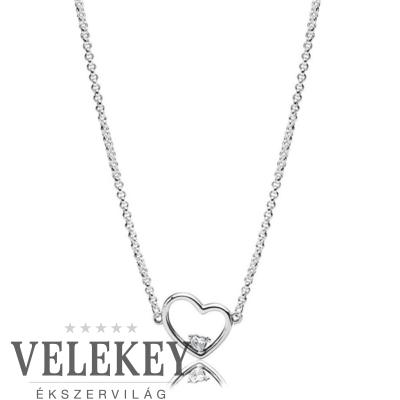 Pandora aszimmetrikus szívek nyaklánc - 397797CZ