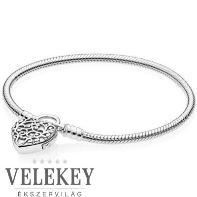 Pandora fenséges szívzár karkötő - 597602
