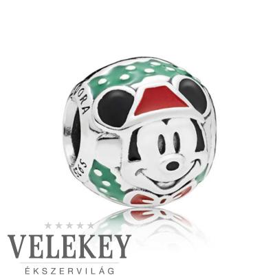 Pandora Mickey Mikulás charm - 797502ENMX