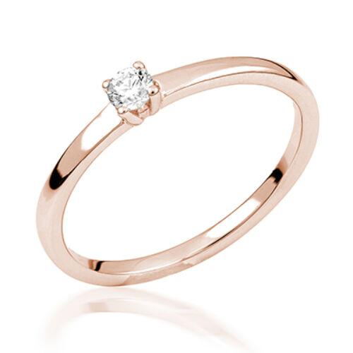 Rozé arany eljegyzési gyűrű - M105R
