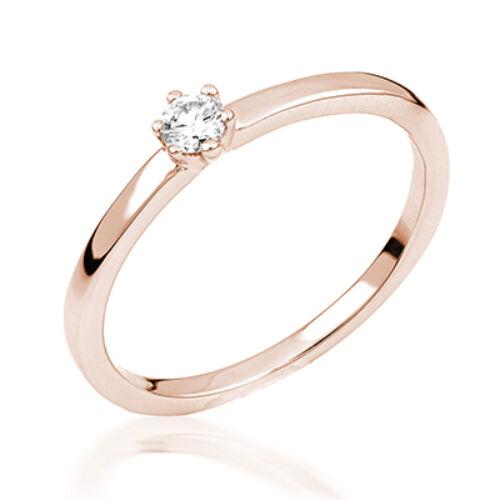 Rozé arany eljegyzési gyűrű - M106R