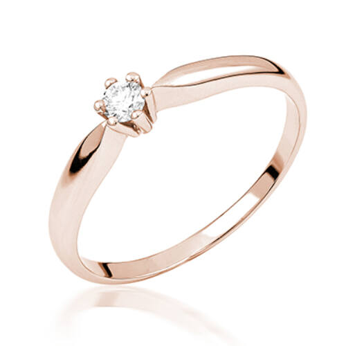 Rozé arany eljegyzési gyűrű - M110R