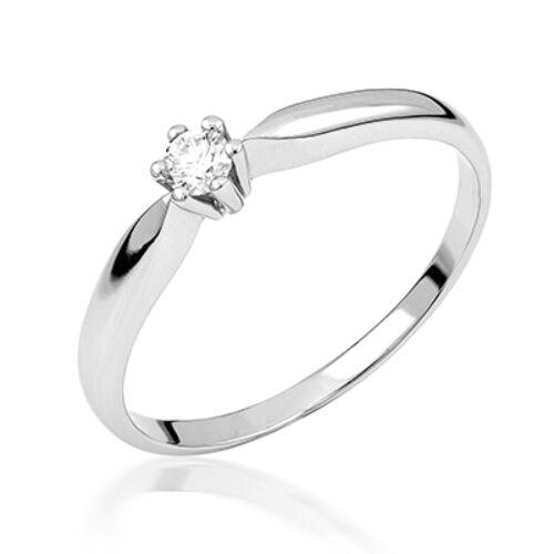 Fehér arany eljegyzési gyűrű - M110W