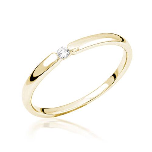 Sárga arany eljegyzési gyűrű - M113G