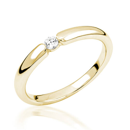 Sárga arany eljegyzési gyűrű - M114G