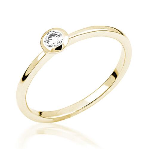 Sárga arany eljegyzési gyűrű - M116G