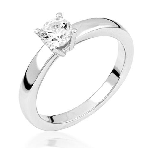 Fehér arany eljegyzési gyűrű - M120W
