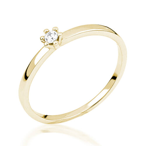 Sárga arany eljegyzési gyűrű - M121G