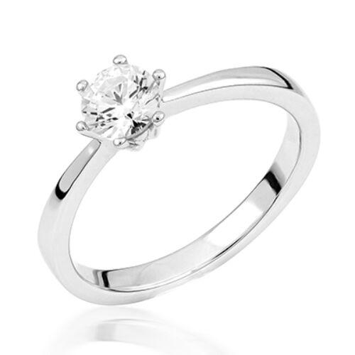 Fehér arany eljegyzési gyűrű - M125W