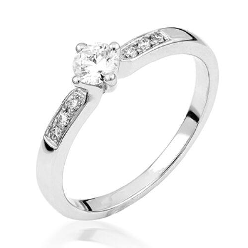 Fehér arany eljegyzési gyűrű - M127W