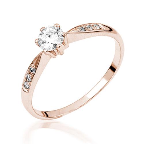 Rozé arany eljegyzési gyűrű - M129R