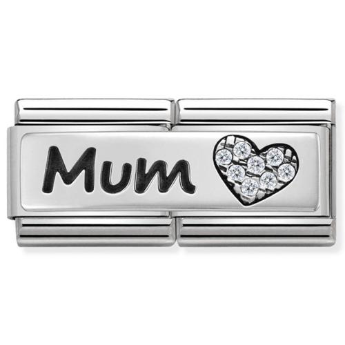 Nomination ezüst 'Mum' dupla charm - 330731/07