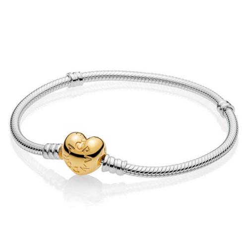 Pandora Moments sterling ezüst karkötő Shine zárral - 568707C00-17